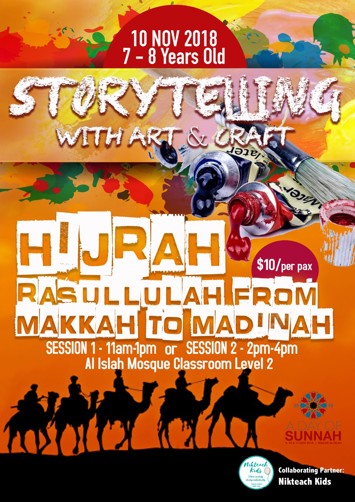 Storytelling with Art & Craft - Hijrah Rasulullah s.a.w. (REGISTRATION CLOSED)
