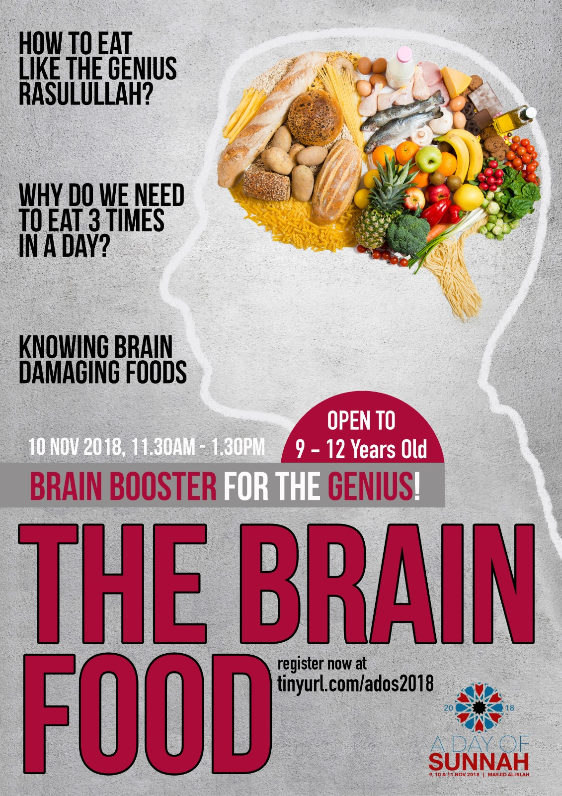 The Brain Food: Brain Booster for The Genius! (REGISTRATION CLOSED)