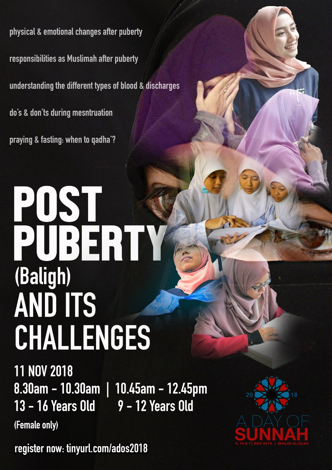 Girls Empowerment Workshop: Post Puberty (Baligh) and its Challenges (Registration Closed)