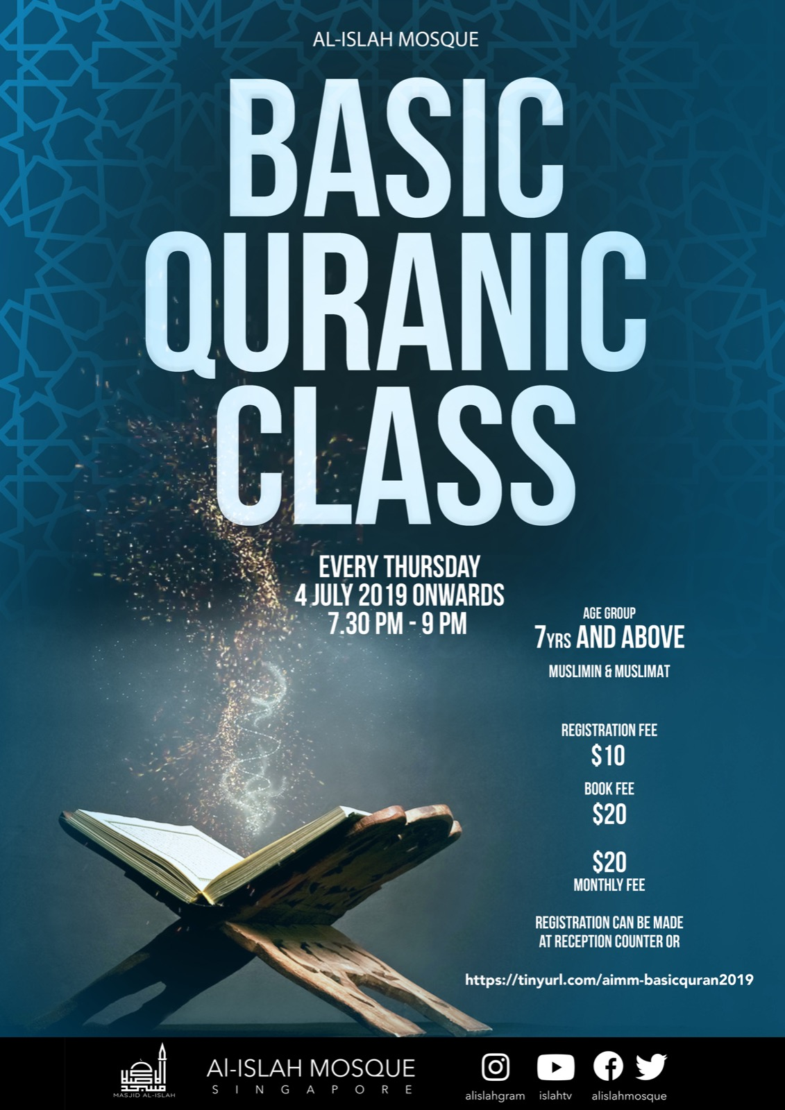 Basic Quranic Class (July 2019 Regstration Closed)